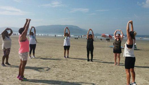 E nossa ginástica na praia teve um lindo dia como cenário!!!
